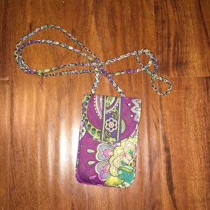 Vera Bradley cross body carrying wallet